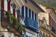 Streets of the historical town Ouro Preto Brazil Stock Images