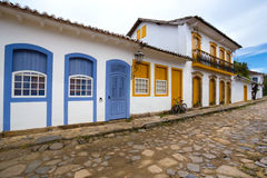 Streets of the historical town Paraty Brazil Stock Photo