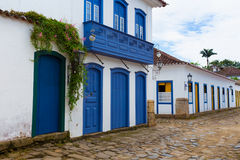 Streets of the historical town Paraty Brazil Stock Images