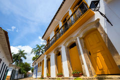 Streets of the historical town Paraty Brazil Stock Photos