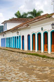 Streets of the historical town Paraty Brazil Royalty Free Stock Photo