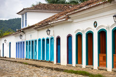 Streets of the historical town Paraty Brazil Royalty Free Stock Image