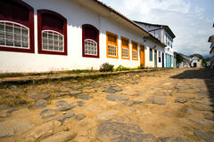 Streets of the historical town Paraty Brazil Stock Image