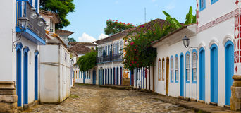 Streets of the historical town Paraty Brazil Stock Photography
