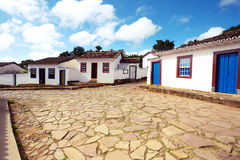 Streets of the historical town Tiradentes Brazil Stock Images