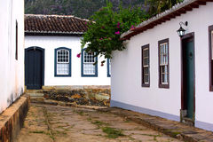 Streets of the historical town Tiradentes Brazil Royalty Free Stock Photography