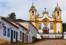 Streets of the historical town Tiradentes Brazil Stock Photo