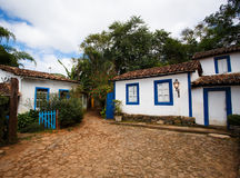 Streets of the historical town Tiradentes Brazil Stock Photography