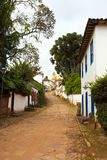 Streets of the historical town Tiradentes Brazil Royalty Free Stock Image
