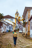 Streets of the historical town Tiradentes, Brazil Stock Photography