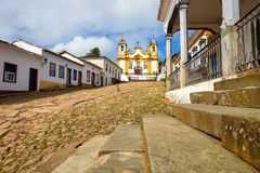 Streets of the historical town Tiradentes, Brazil Royalty Free Stock Photo