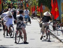 Streets of Hoi An. Historical town of Hoi An - the popular tourist destination in Vietnam royalty free stock images