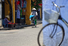 Streets of Hoi An. A view from the streets of Hoi An in Vietnam royalty free stock photo