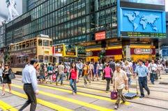 Streets of Hong Kong Stock Image