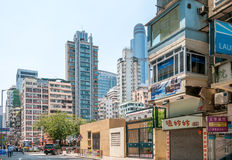 Streets of Hong Kong Stock Photography