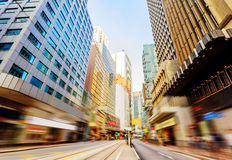The streets of Hong Kong, motion blur. Stock Photos