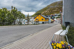 Streets of Honningsvag, Norway. Stock Photos