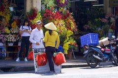 Streets of Hoshimin, Vietnam stock image