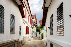 Streets and houses in Bangkok, Thailand. Streets and houses in Bangkok. The area near Wat Pho, Bangkok, Thailand Royalty Free Stock Photography