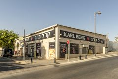 Streets and houses in Beer Sheva city area Stock Images