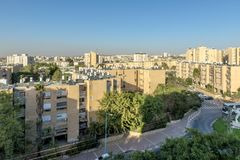 Streets and houses in Beer Sheva city area. South Israel Royalty Free Stock Photos