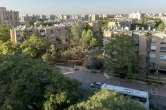 Streets and houses in Beer Sheva city area Royalty Free Stock Photos
