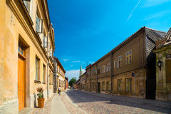 Streets and houses of old historic town Royalty Free Stock Photo