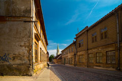 Streets and houses of old historic town Stock Photo