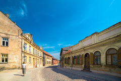 Streets and houses of old historic town Royalty Free Stock Photos