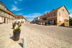 Streets and houses of old historic town Royalty Free Stock Images