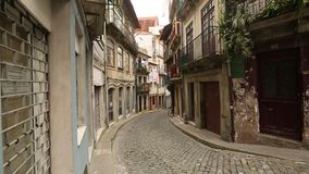 Streets and houses in the Porto Old town, Portugal. Travel. stock video footage