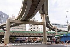 Streets of Ikebukuro district of Tokyo Stock Images