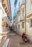 Streets In Heart Of Stone Town City Royalty Free Stock Image
