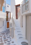 The streets of the island with  balconies, stairs Stock Photo