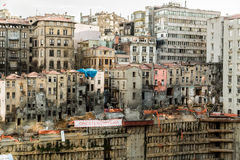 Streets of Istanbul. Poor housing seen from the streets of Istanbul Royalty Free Stock Images