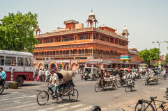 In The Streets of Jaipur Stock Photos