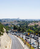 Streets of Jerusalem, Israel. Roadway with the traffic Royalty Free Stock Image