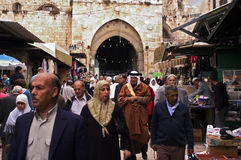 Streets of Jerusalem Old City, Israel Royalty Free Stock Images