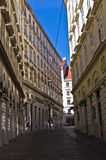 Streets of jewish quarter at downtown of Vienna Stock Photo