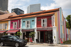 On the streets Kampong Glam in Singapore. SINGAPORE - CIRCA FEBRUARY, 2015: On the streets Arab quarter (Kampong Glam). Arab Quarter is the oldest historic Royalty Free Stock Photo