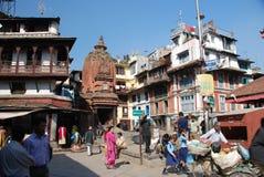 Streets of Kathmandu Stock Image