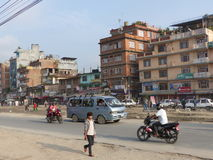 Streets of Kathmandu Stock Photos