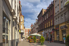 On the streets of Katowice city, Poland Royalty Free Stock Photography