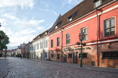 Streets of Kaunas old town Royalty Free Stock Image