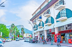 The streets of Kemer Stock Images