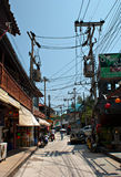 Streets of Koh Phangan. The streets of Koh Phangan Island in Thailand royalty free stock photo