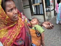 Streets of Kolkata. Beggars stock images