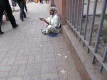 Streets of Kolkata, Beggars Stock Image