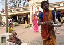 Streets of Kolkata, Beggars Stock Photos