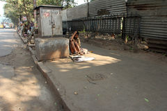 Streets of Kolkata, Beggars Royalty Free Stock Photo
